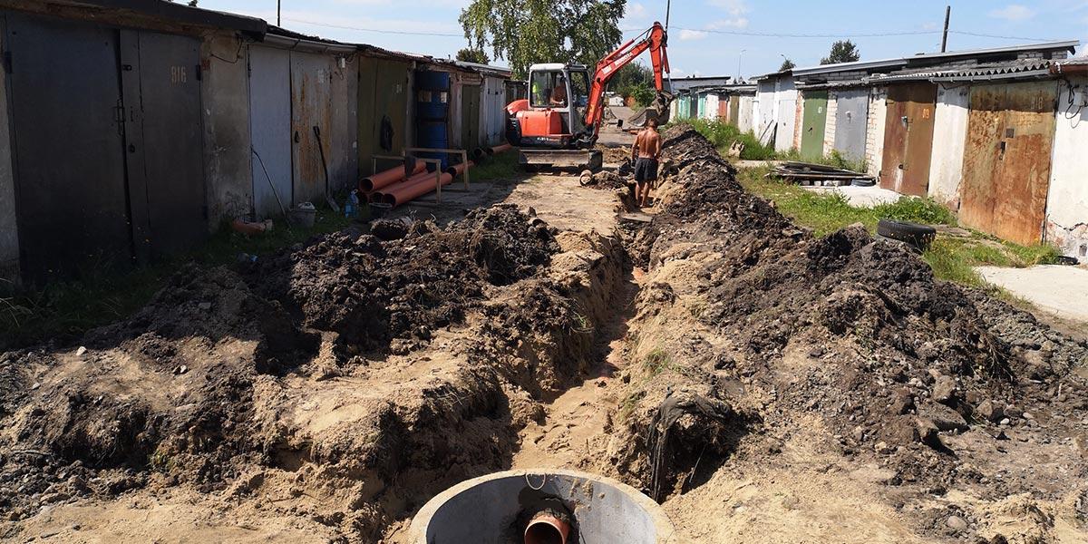 Монтаж ливневой канализации в ГО «Октябрь»