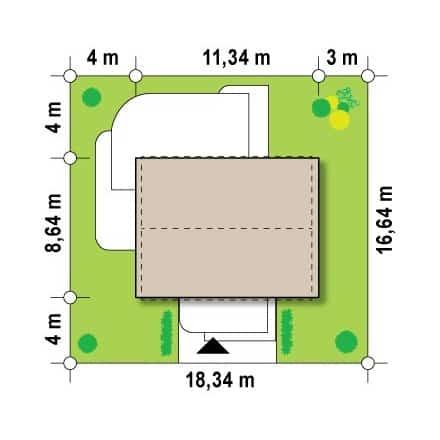 Проект загородного дома, площадь 78 кв.м.