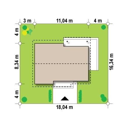 Проект загородного дома, площадь 67 кв.м.