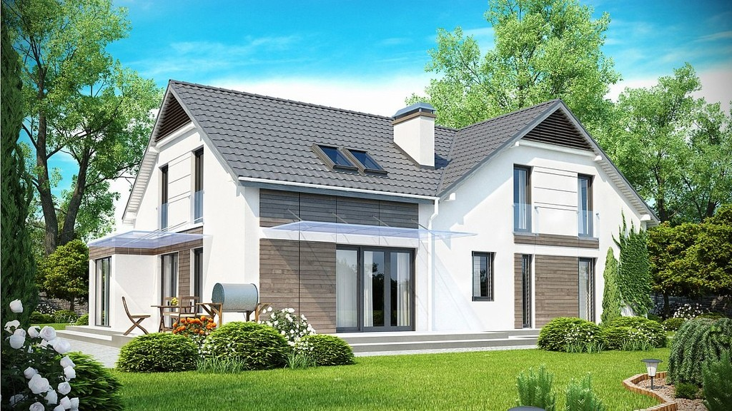 Проект загородного дома, 282 кв.м.