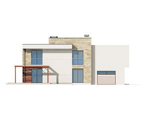 Проект загородного дома, 210 кв.м.