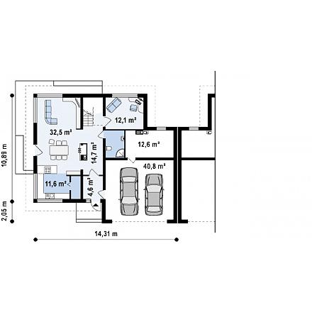 Проект загородного дома, 230 кв.м.