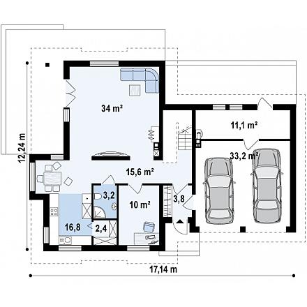 Проект загородного дома, 260 кв.м