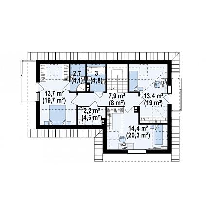 Проект загородного дома, 169 кв.м.