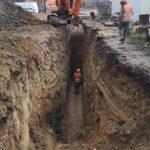 Прокладка ливневой канализации и монтаж КНС в г. Гусев